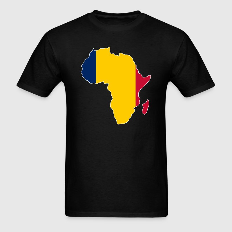 Chad Flag In Africa Map T-Shirt - Men's T-Shirt