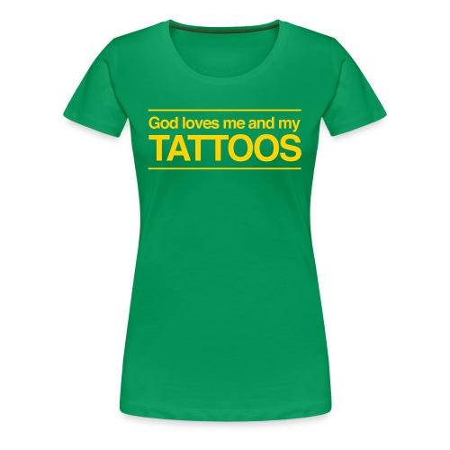 Tattoos (yellow) - Women's Premium T-Shirt