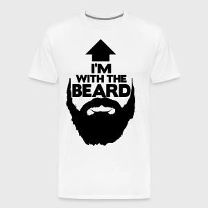 I'm With The Beard - Men's Premium T-Shirt