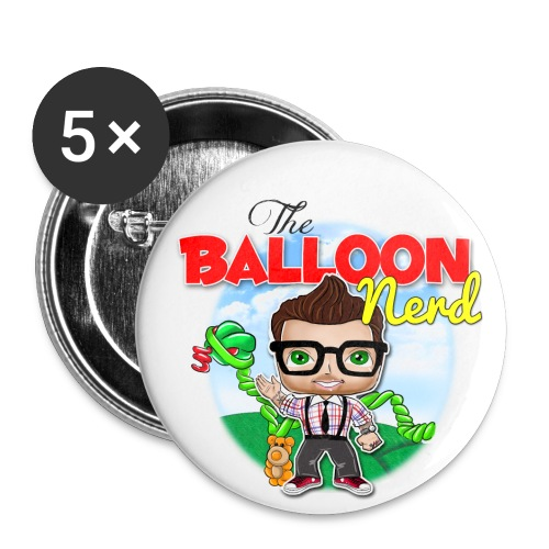 Buttons Balloon Nerd  - Small Buttons