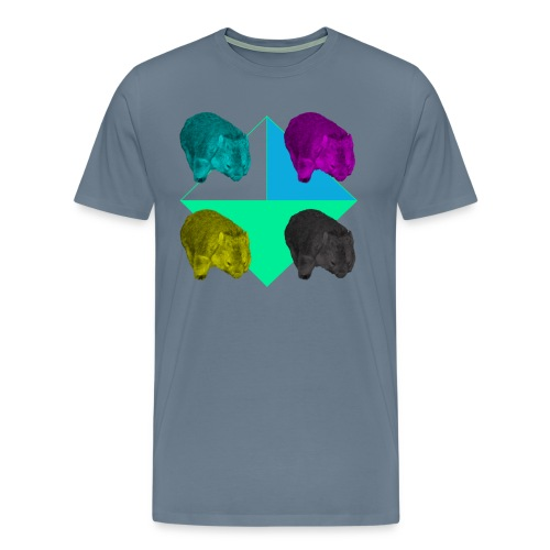 CMYK Wombat Mens - Men's Premium T-Shirt