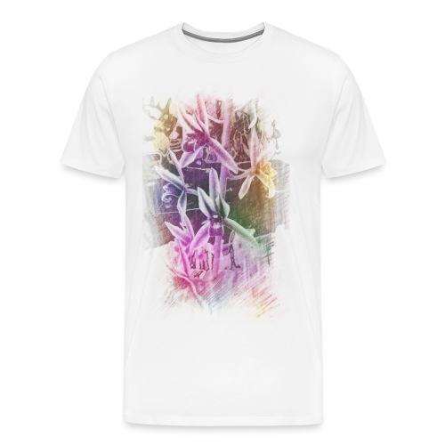 Orchids Colored Sketch Mens - Men's Premium T-Shirt