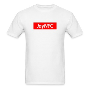 JayNYC Box Logo Tee - Men's T-Shirt