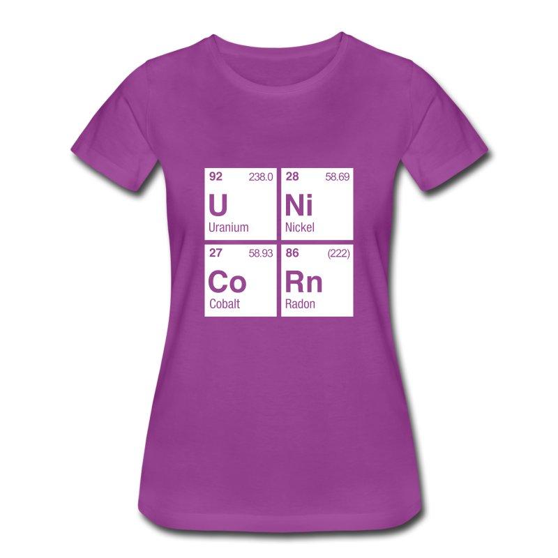 Unicorn elements periodic table t shirt chemicalshirts unicorn elements periodic table womens premium t shirt urtaz Images