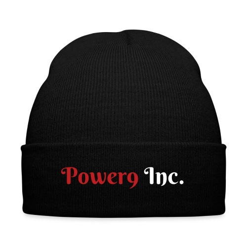 Official Power9 Inc Beanie - Knit Cap with Cuff Print