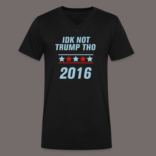 Not Trump tee  - Men's V-Neck T-Shirt by Canvas