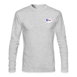 Men's Long Sleeve Performance T-Shirt - Light Grey - Men's Long Sleeve T-Shirt by Next Level