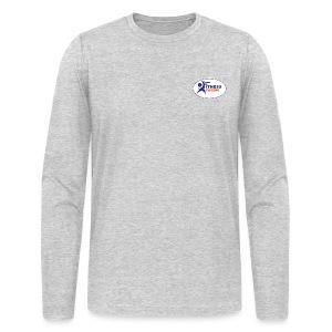 Men's Long Sleeve Performance T-Shirt - Light Grey - Men's Long Sleeve T-Shirt by Next Level