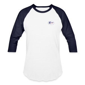 Men's 3/4 Sleeve Performance T-Shirt - White and Navy - Baseball T-Shirt