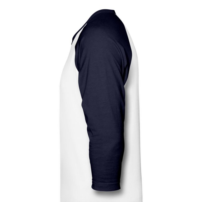Men's 3/4 Sleeve Performance T-Shirt - White and Navy