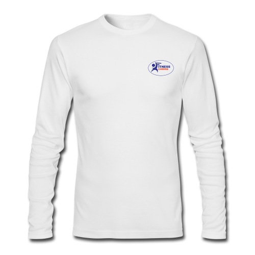Men's Long Sleeve Performance T-Shirt - White - Men's Long Sleeve T-Shirt by Next Level