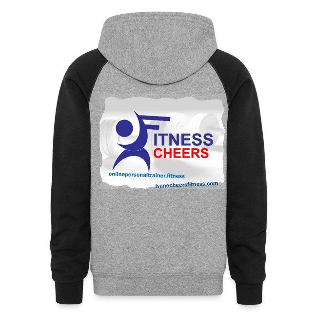 Fitness Cheers Colorblock Hoodie - Grey/Black