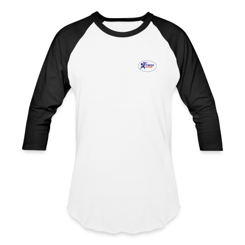 Men's 3/4 Sleeve Performance T-Shirt - White and Black - Baseball T-Shirt