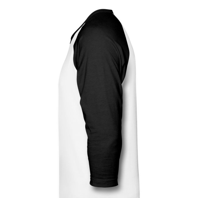 Men's 3/4 Sleeve Performance T-Shirt - White and Black