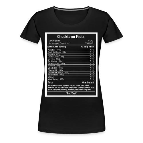ChuckTown Facts - Women (Black) - Women's Premium T-Shirt