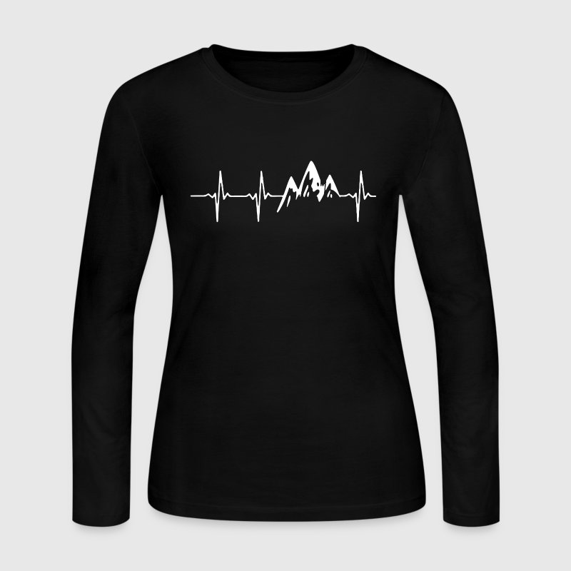 Mountain In My Heartbeat - Women's Long Sleeve Jersey T-Shirt