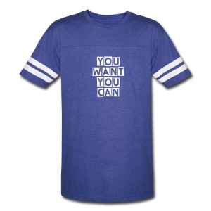 Vintage Sport T-Shirt You Want You Can - Blue - Vintage Sport T-Shirt