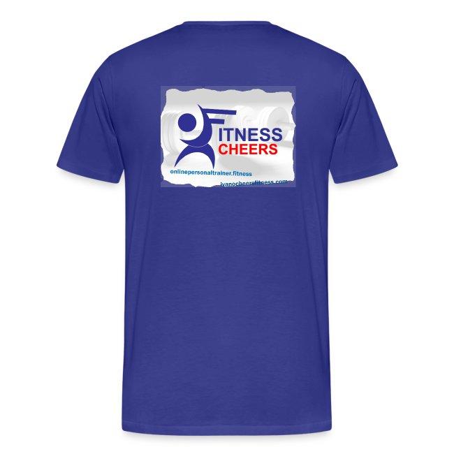 Fitness Cheers Men's Premium T-Shirt - Blue