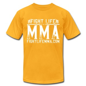 FightLife-T-MYellow - Men's T-Shirt by American Apparel