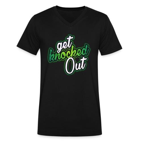 Get Knocked Out (Black V-Neck) - Men's V-Neck T-Shirt by Canvas