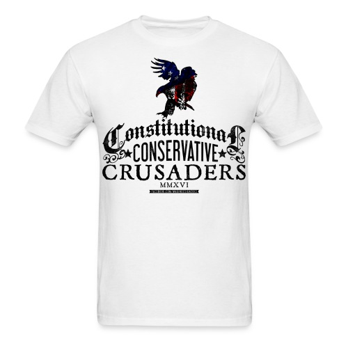 Constitutional Censervative Crusaders - Men's T-Shirt