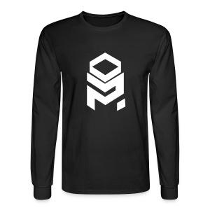 OptiMystic (Black) - White - LONG SLEEVE - Men's Long Sleeve T-Shirt