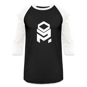 OptiMystic (Black&White) - White Logo - LONG SLEEVE - Baseball T-Shirt