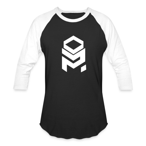 OptiMystic (Black&White) - White Logo - LONG SLEEVE - Baseball T-Shirt