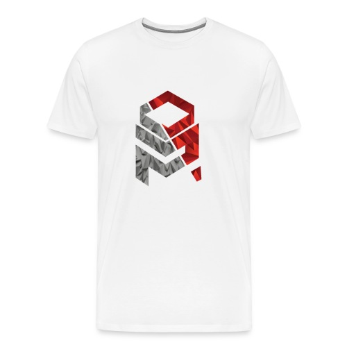 OptiMystic (White) - Grey&Red - T-Shirt - Men's Premium T-Shirt