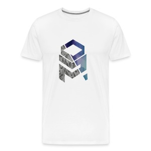 OptiMystic (White) - Grey&Blue - T-Shirt - Men's Premium T-Shirt
