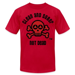 Clean And Sober Not Dead Logo - Men's T-Shirt by American Apparel