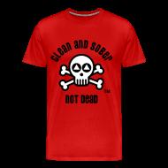 T-Shirts ~ Men's Premium T-Shirt ~ Clean And Sober Not Dead Logo