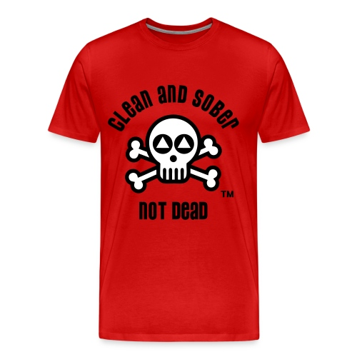 Clean And Sober Not Dead Logo - Men's Premium T-Shirt