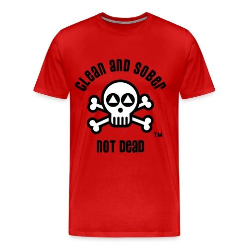 Clean And Sober Not Dead Logo - Men's Premium T-Shirt