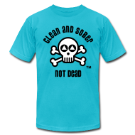 T-Shirts ~ Men's T-Shirt by American Apparel ~ Clean And Sober Not Dead Logo