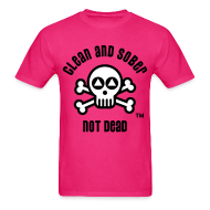 T-Shirts ~ Men's T-Shirt ~ Clean And Sober Not Dead Logo
