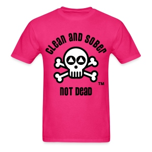 Clean And Sober Not Dead Logo - Men's T-Shirt