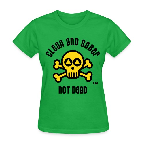 Clean And Sober Not Dead Logo - Women's T-Shirt