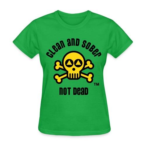 Clean And Sober Not Dead Logo - Women's T-Shirt