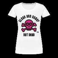 T-Shirts ~ Women's Premium T-Shirt ~ Clean And Sober Not Dead Logo