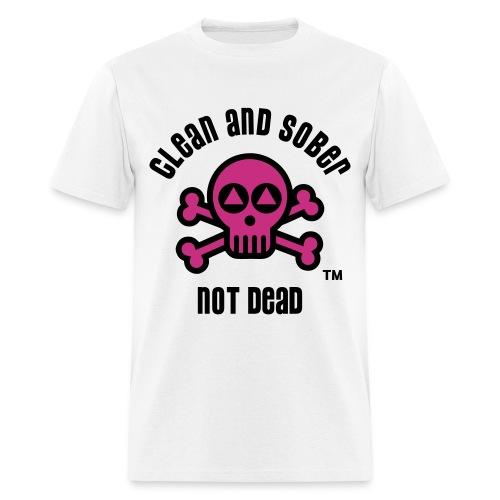 Clean And Sober Not Dead Logo - Men's T-Shirt