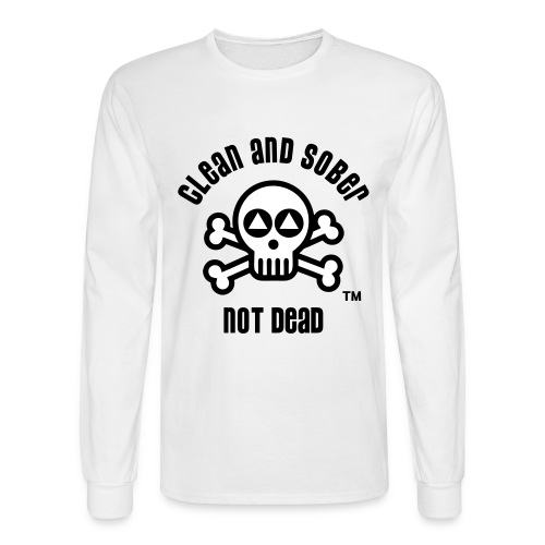 Clean And Sober Not Dead Logo - Men's Long Sleeve T-Shirt