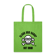 Bags & backpacks ~ Tote Bag ~ Clean And Sober Not Dead Logo