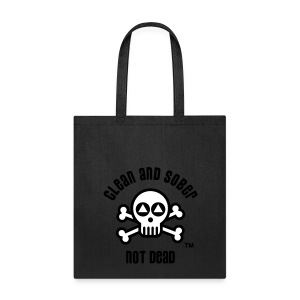 Clean And Sober Not Dead Logo - Tote Bag