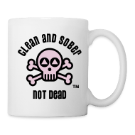 Mugs & Drinkware ~ Coffee/Tea Mug ~ Clean And Sober Not Dead Logo