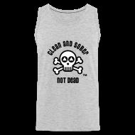 Sportswear ~ Men's Premium Tank ~ Clean And Sober Not Dead Logo
