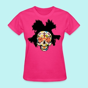 Basquiat Womans Skully - Women's T-Shirt