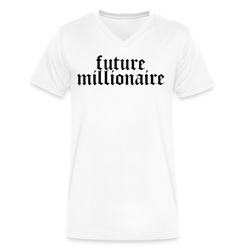 Future Millionaire  - Men's V-Neck T-Shirt by Canvas
