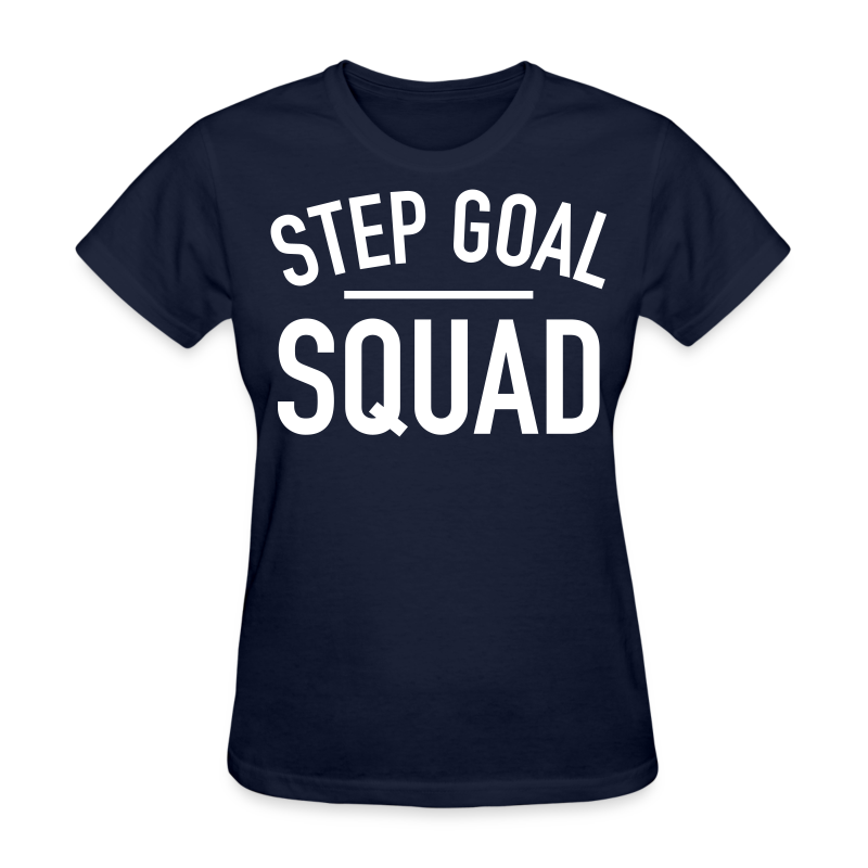 Step Goal Squad Plain T-Shirt | Black Weight Loss Success