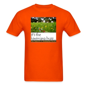 kiwimana Buzz - Orange Mens T-Shirt - Men's T-Shirt